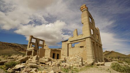 Ruins of Rhyolite Nevada ghost town