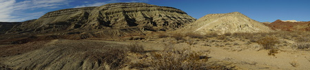 Panorama of mountains near Red Rock in Last Chance canyon California 写真素材