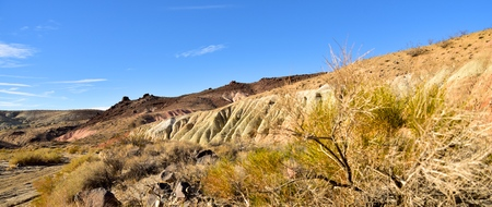 Panorama of Red Rock Canyon in California near Mojave.