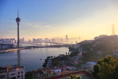 landscape scenery of Macao Editorial