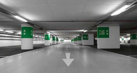 Underground car park Stockfoto
