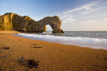 rock arch: Durdle Door Natural Rock Arch in Dorset, England. Part of the Jurassic coast.