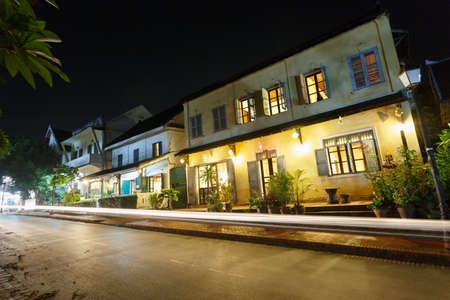 small town life: Night street