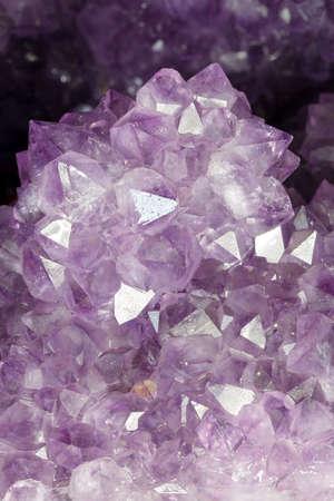 Purple crystal macro background