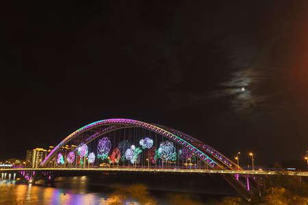 prosper: rose bridge at city night