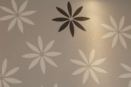 mud wall: Diatom mud wall background?Flower design