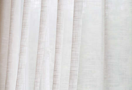 curtain background: White muslin curtain background,