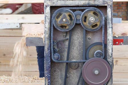 wood planer: The old machine planer wood scene