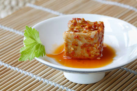 A piece of  fermented bean curd