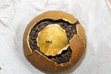 tangerine peel: Dried tangerine or orange peel tea