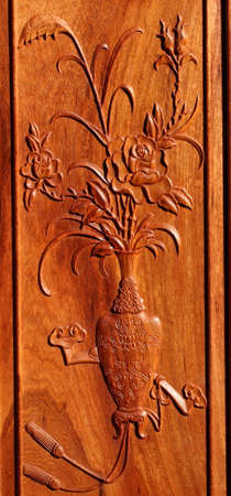 The traditional carving, wood carving background