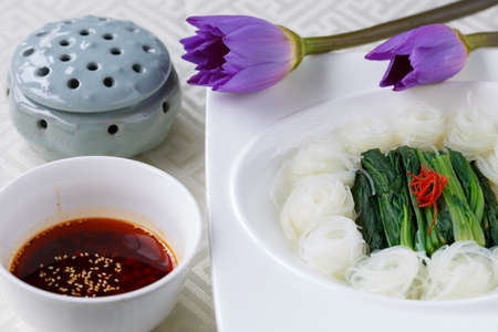 Vegetable dish, Chinese cooking Stock Photo