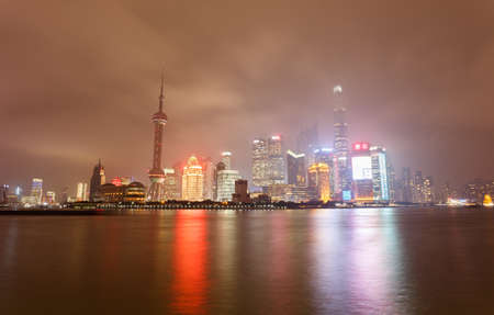 led lighting: Beautiful night view of Shanghai, the Bund