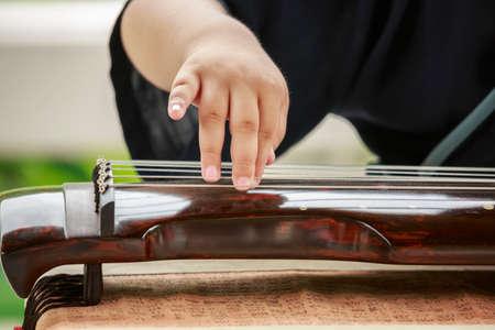 中国の古琴 写真素材
