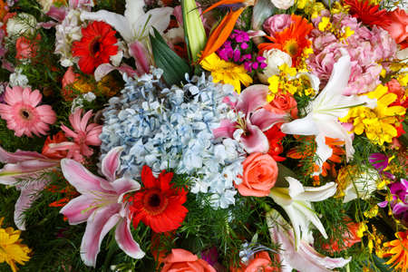 Local scene of flower arrangement Imagens