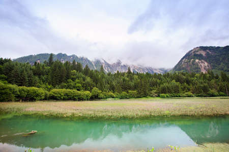 Alpine lakes and wetlands in Tibetan areas of Sichuan, China