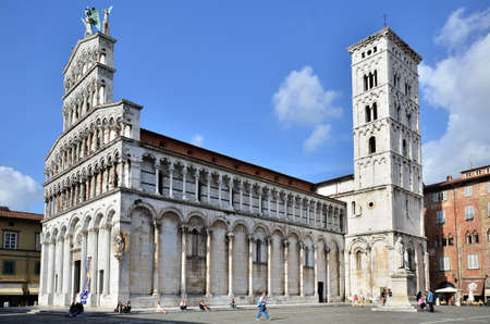 san michele: Church San Michele in Foro Lucca Tuscany Italy