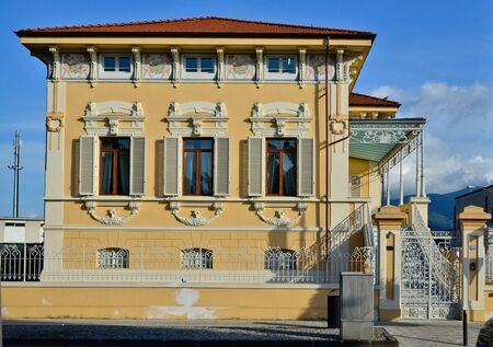 Typical Tuscany townhouse of Lucca Italy Stock Photo - 11306265