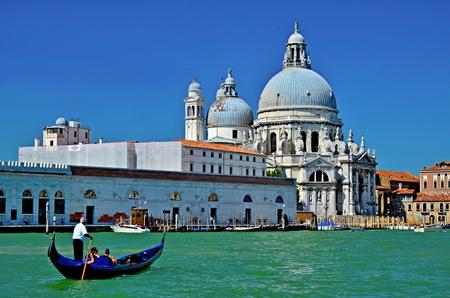 grande: canale grande of venice with dome santa maria del rosario