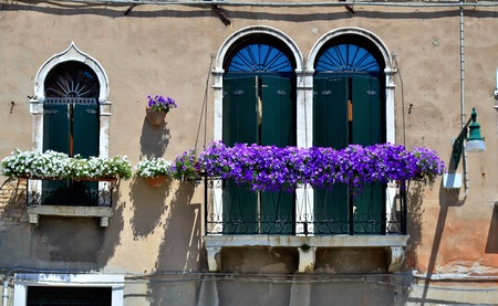 typical balcony in venice photo