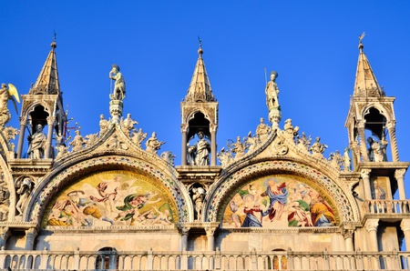 Detail of san Marco church venice Italy