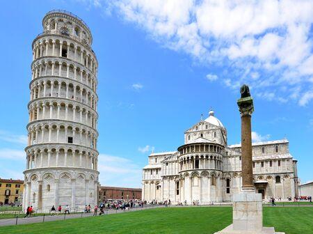 gartenanlage: leaning tower of Pisa, Italy