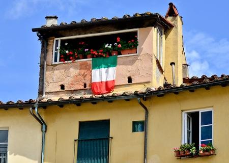 gartenanlage: Italian Window decorated Tuscany Stock Photo