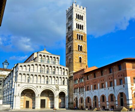 gartenanlage: church of Lucca Tuscany Italy
