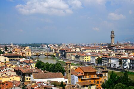 toskana: town view of Florence  Italy