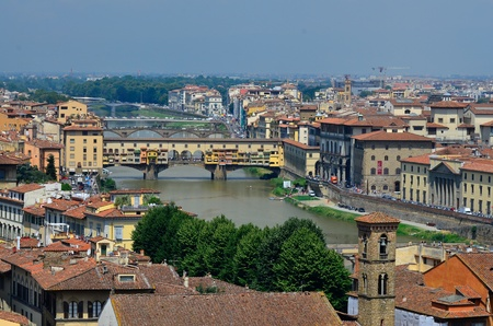 gartenanlage: town view of Florence  Italy