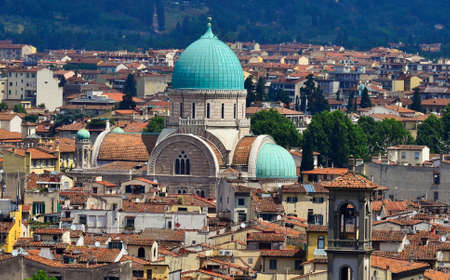 gartenanlage: town view Florence Italy Stock Photo