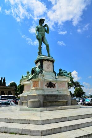 gartenanlage: monument of  Michelangelo Florence Italy Stock Photo
