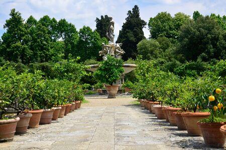 gartenanlage: Giardino de Boboli Florence Italy