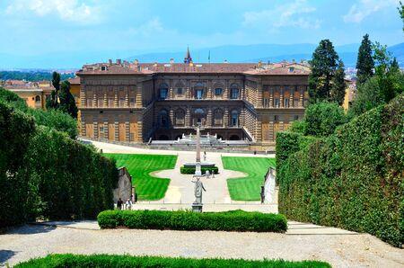 gartenanlage: Palazzo Pitti Florence Italy Editorial