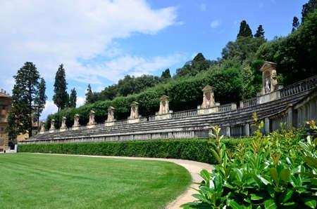 gartenanlage: Amphitheater Palazzo Pitti Florence Italy  Stock Photo