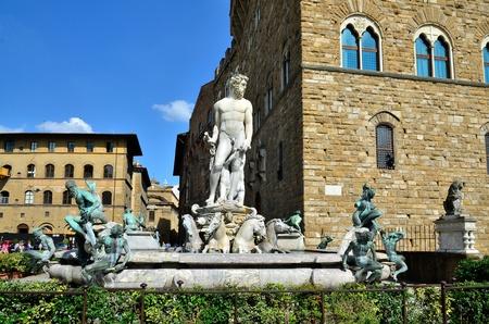 toskana: Neptun fountain Florence Italy