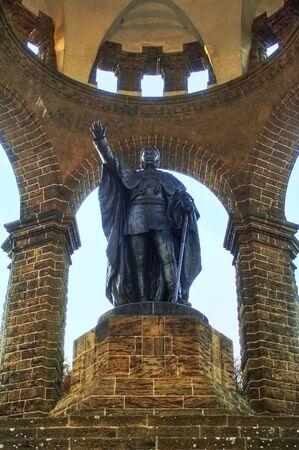 The Hindenburg monument in Porta Westfalica, Germany  Editorial
