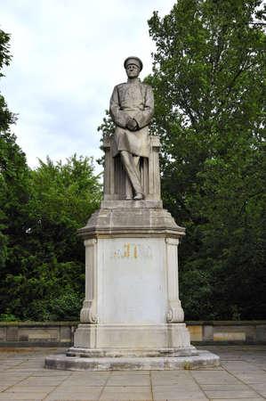 エーリッヒ ・ フォン ・ モルトケ記念碑ベルリン, ドイツ 写真素材