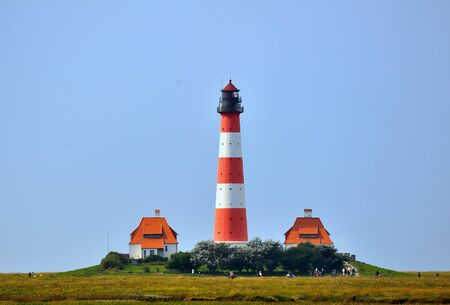 curren: Westerhever Lighttower north sea coast Germany