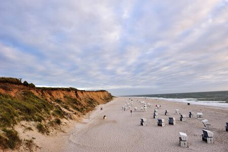 schleswig holstein: The red cliff of Island Sylt, Germany