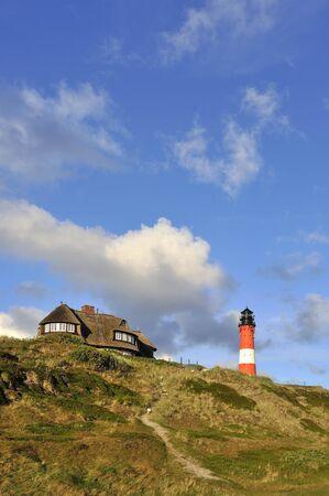 ズィルト島ドイツ灯台 Hornum 写真素材