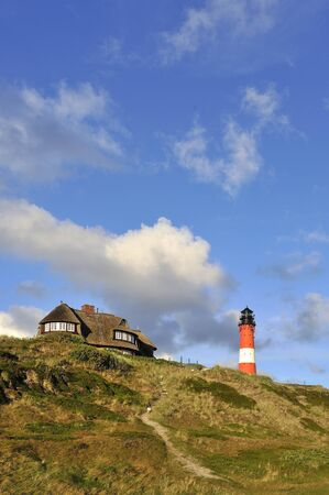 Sylt Germany lighthouse Hornum Stock Photo - 17138336