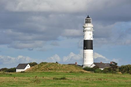 Lighthouse Kampen Island Sylt, Germany  Stock Photo - 17138280