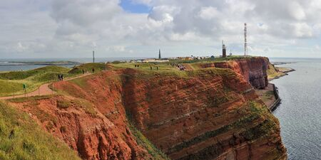 helgoland: Red cliffs Island Helgoland, Germany