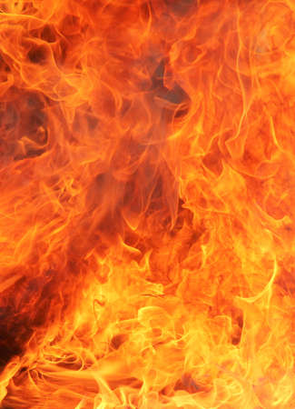 Fire Closeup. A vertical image of a fire. Stock Photo
