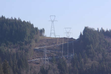 electric grid: Bigger, heavier power transmission towers to carry more electricity.