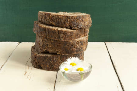 african black soap with daisy photo