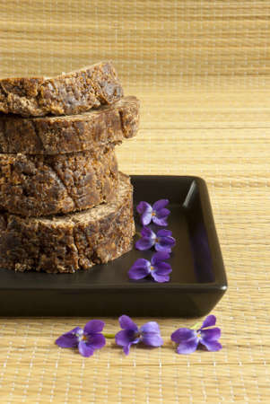wellfare: african black soap with violets Stock Photo