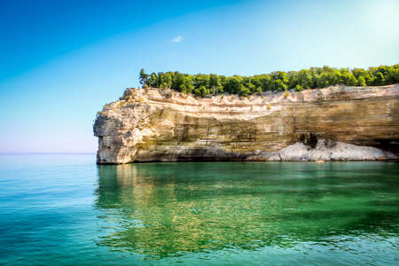 Pictured Rocks National Lakeshore in Munising, Michigan