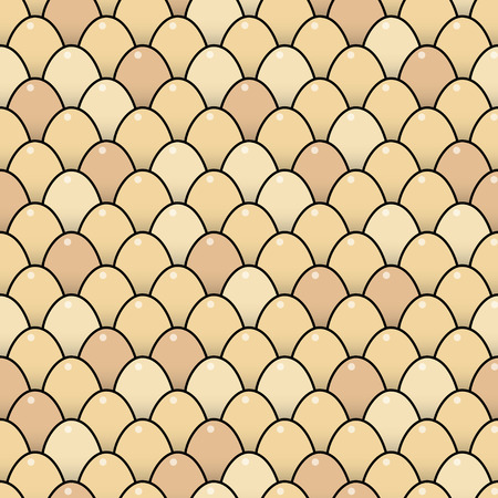multiple birth: Repeating Background of Brown Eggs Illustration